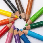 Colored pencils in a circle LAUNCH Flagstaff