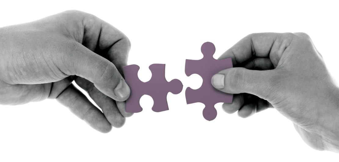 Hands holding matching puzzle pieces LAUNCH Flagstaff