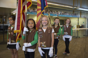 Girl Scouts Color Guard